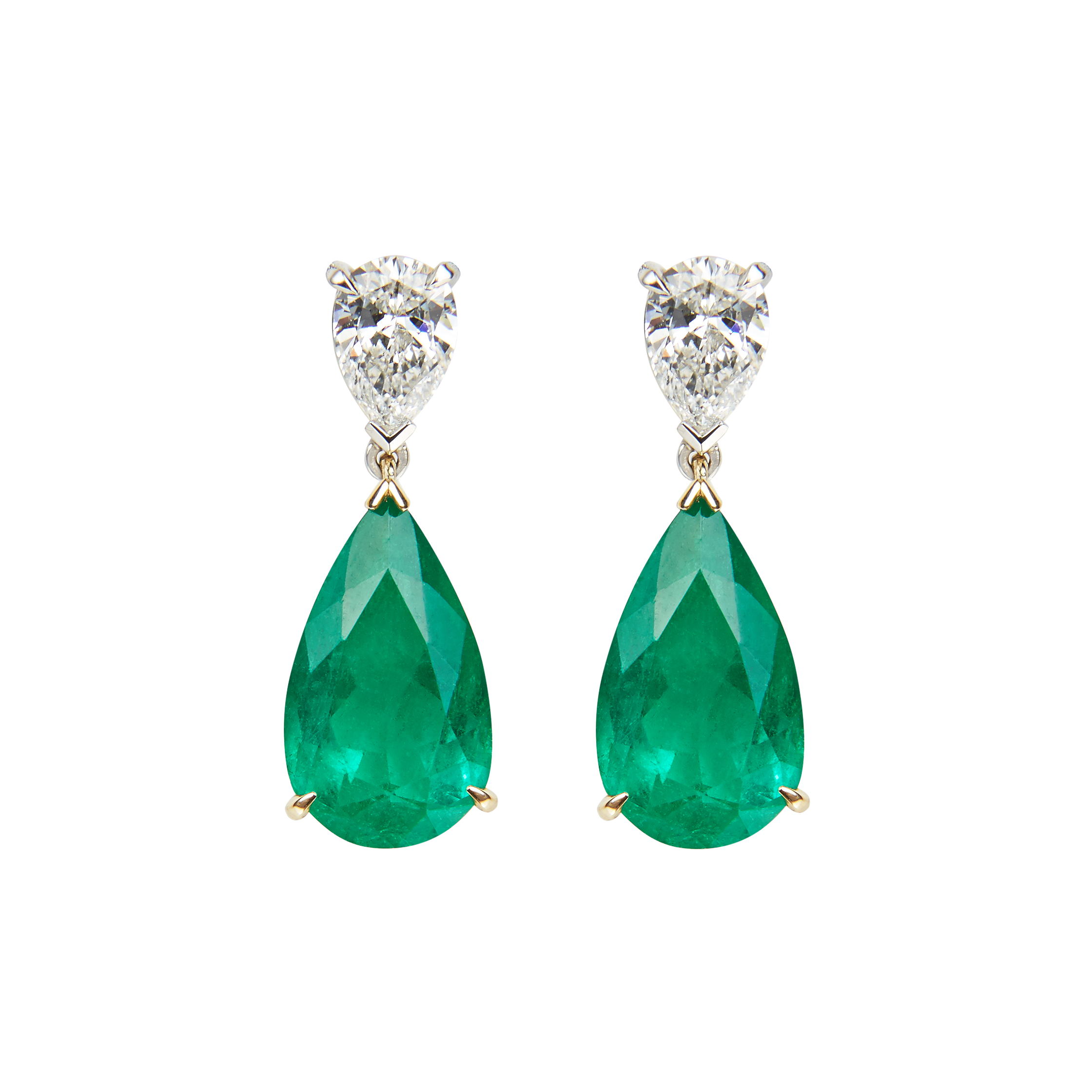 gold emerald dangles filled product long jewellery chain emeralds earrings saruchi r k gf