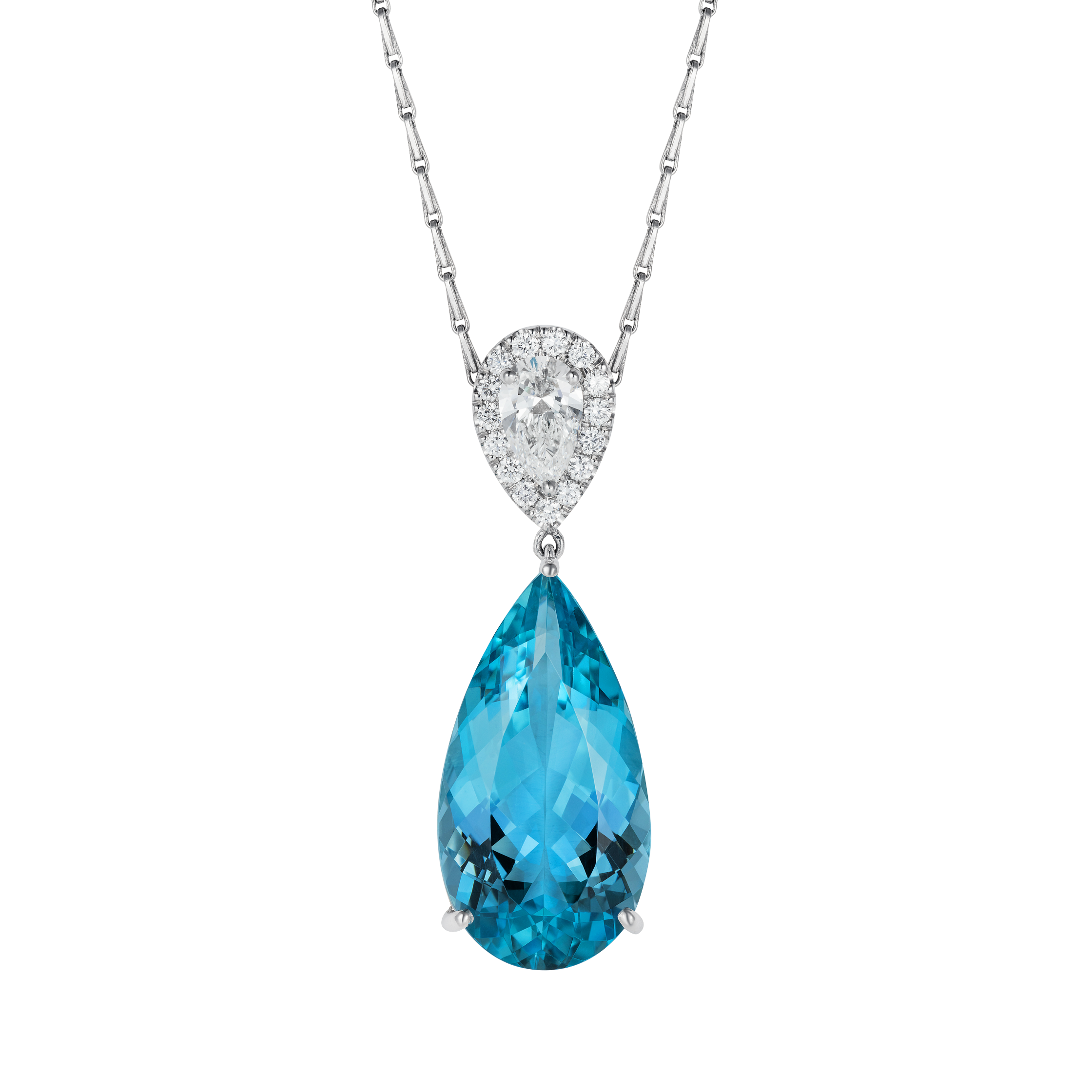march aquamarine necklaces cz birthstone hiho zoom loading pendant necklace silver sterling