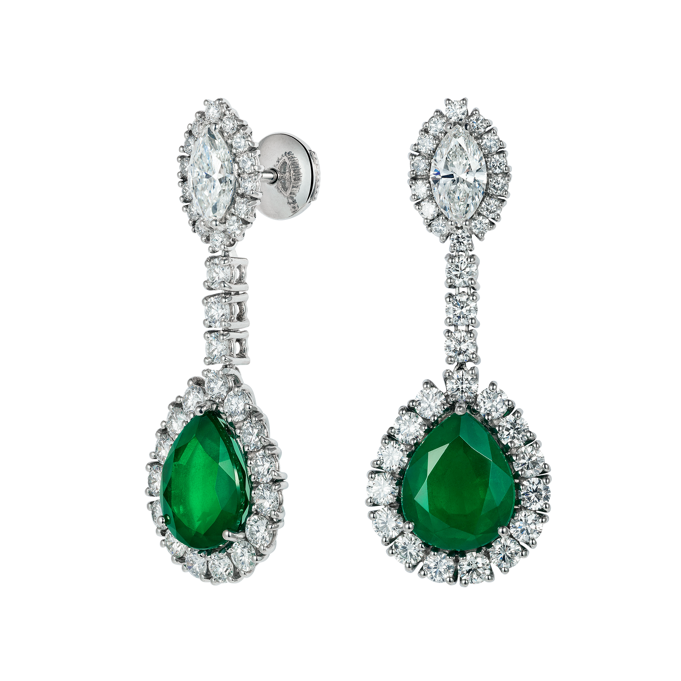 switzerland jewellery little earrings two emerald stone products simulated