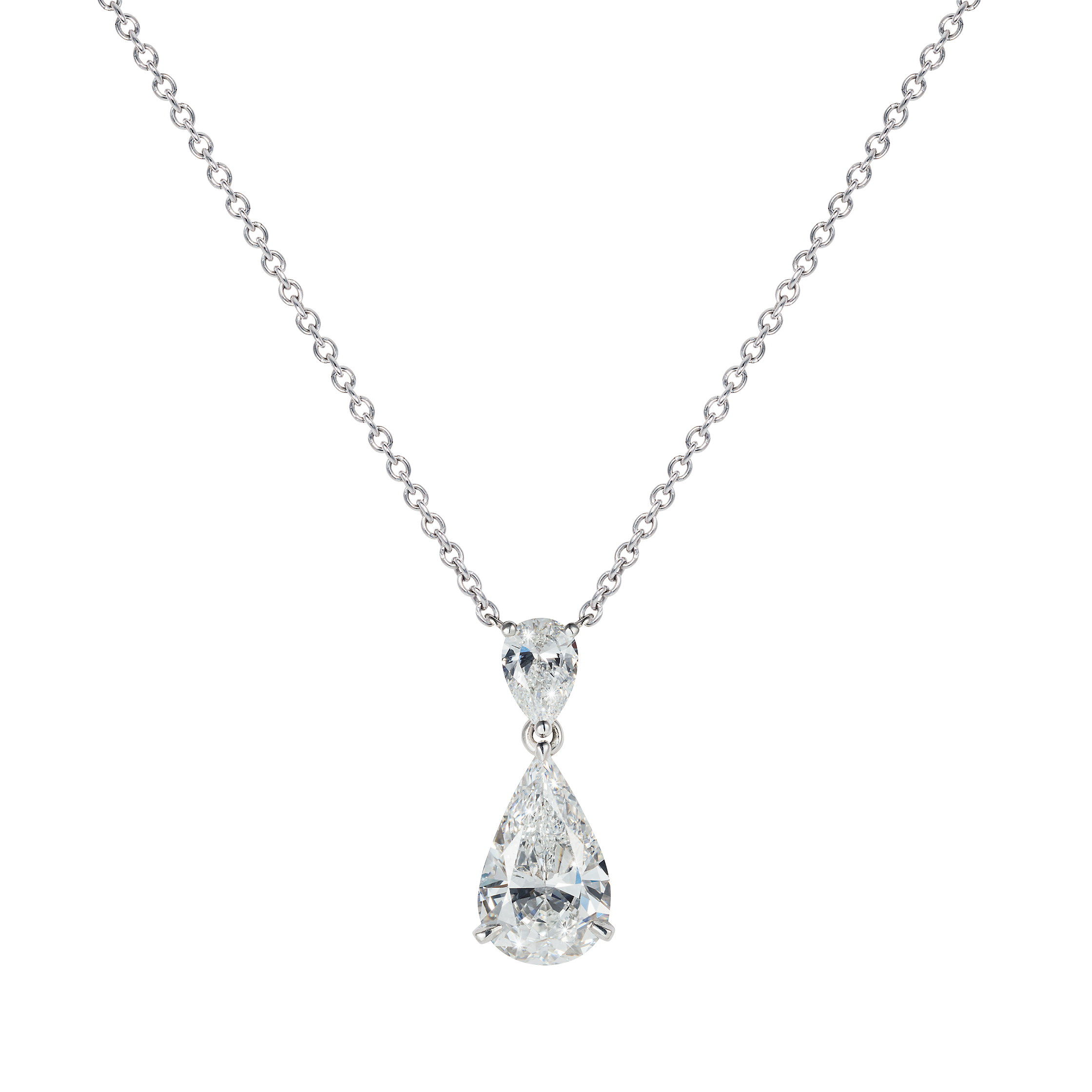 catalog pendant diamond necklace pear shaped wg