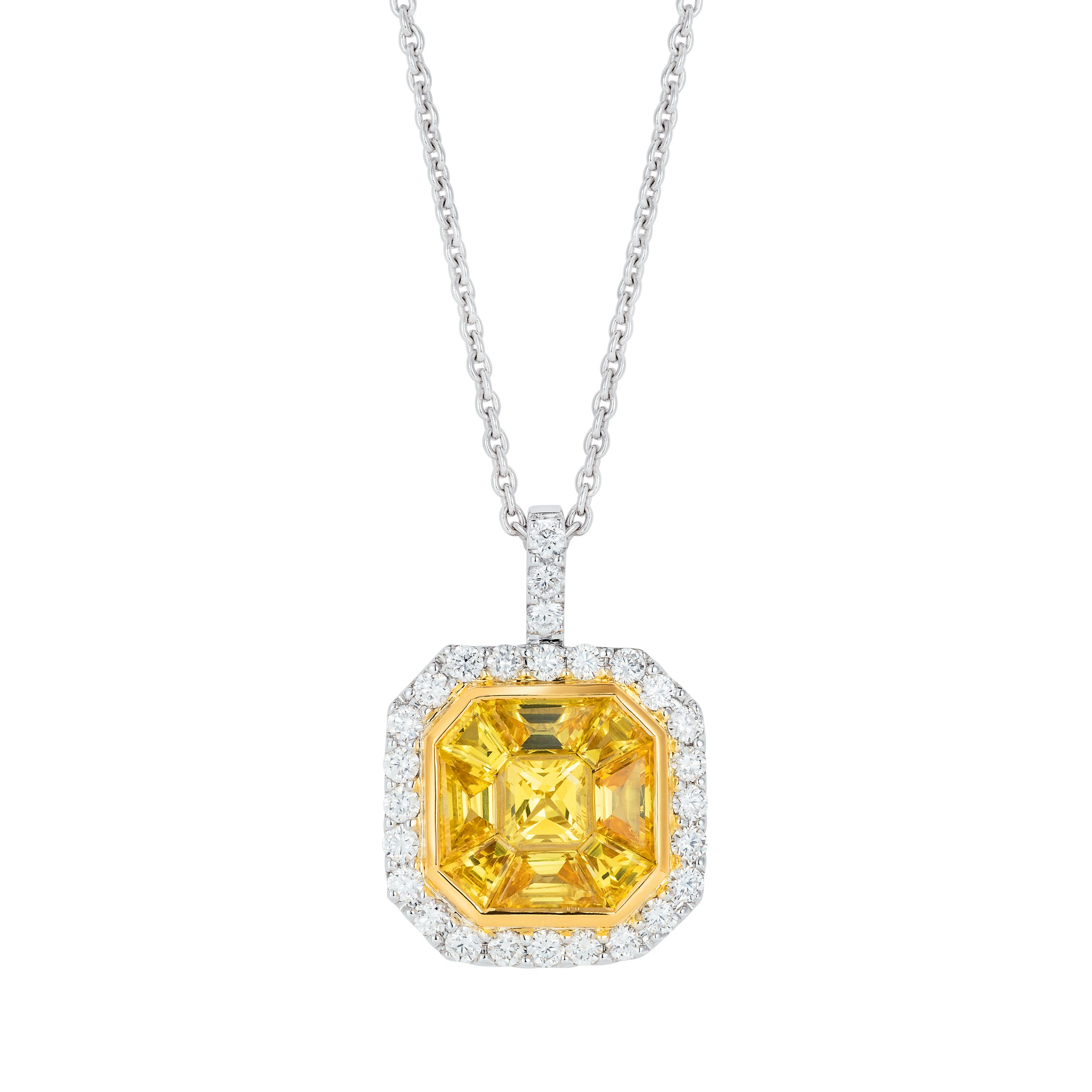 a yellow and pendant of sapphire shane kind diamond star round in co m one designs by p bobbie