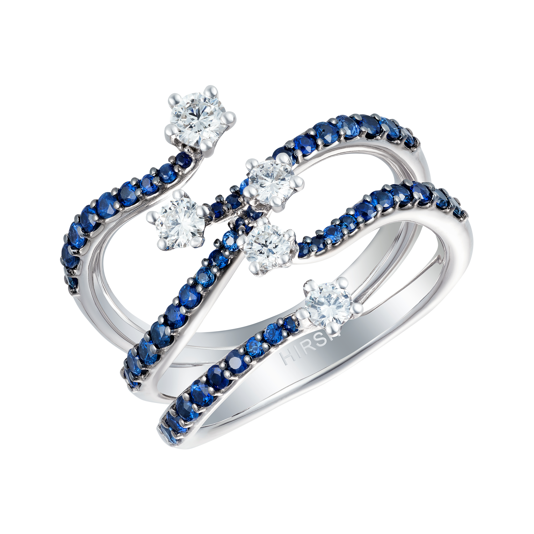 baxtermoerman rings blue pave pav sapphire engagement ring products halo