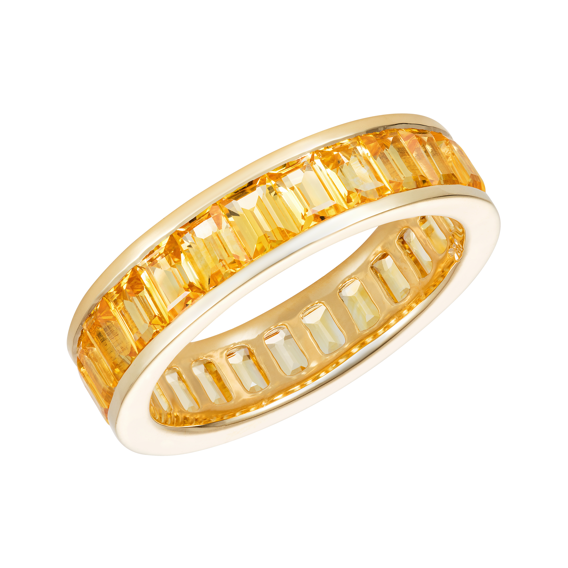 stackable black eternity womens gold band bands diamond yellow ring
