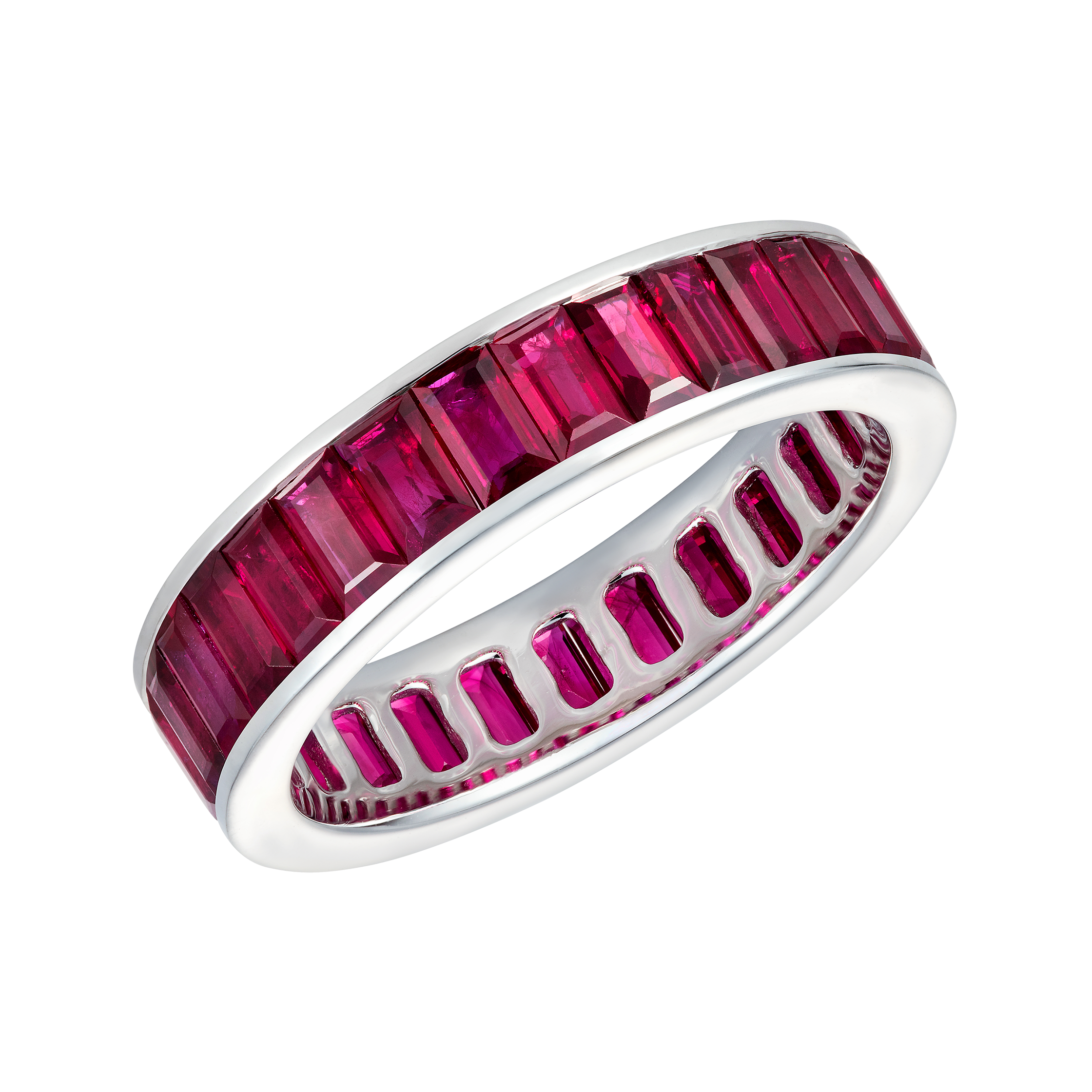 ethically gold weiner band lyst in erica diamond pink sourced rose eternity bands jewelry