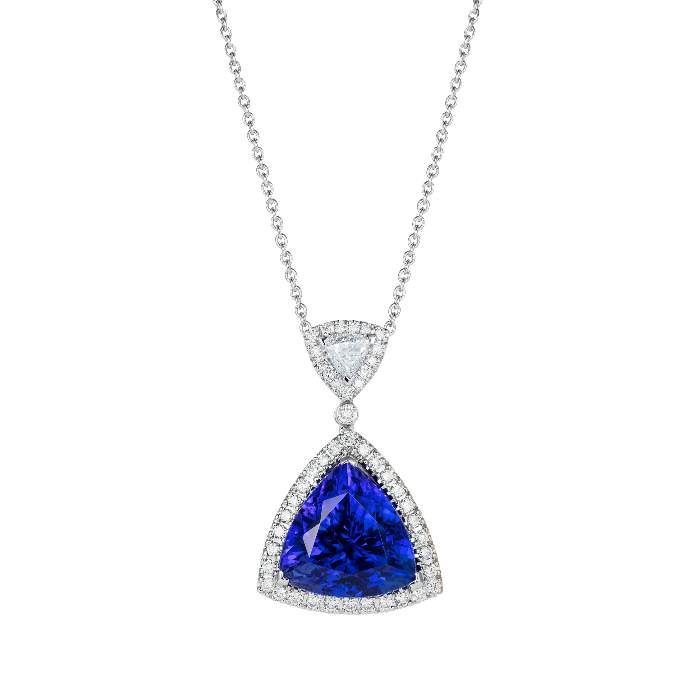 shahla lariat editdec y products necklace with karimi trillion tanzanite gold birthstone img