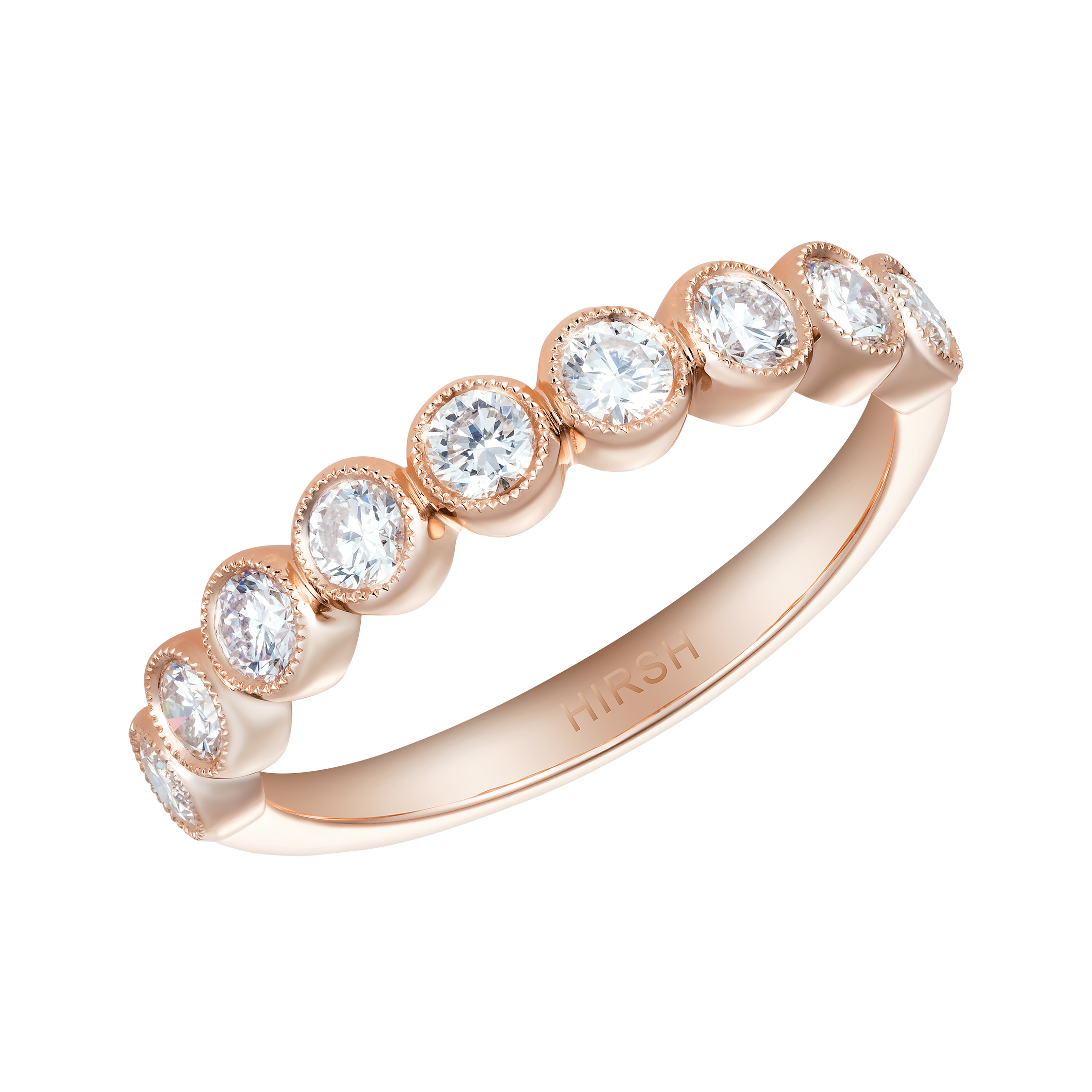 wedding by diamond plain products band gold desires bands ring rose milgrain mikolay