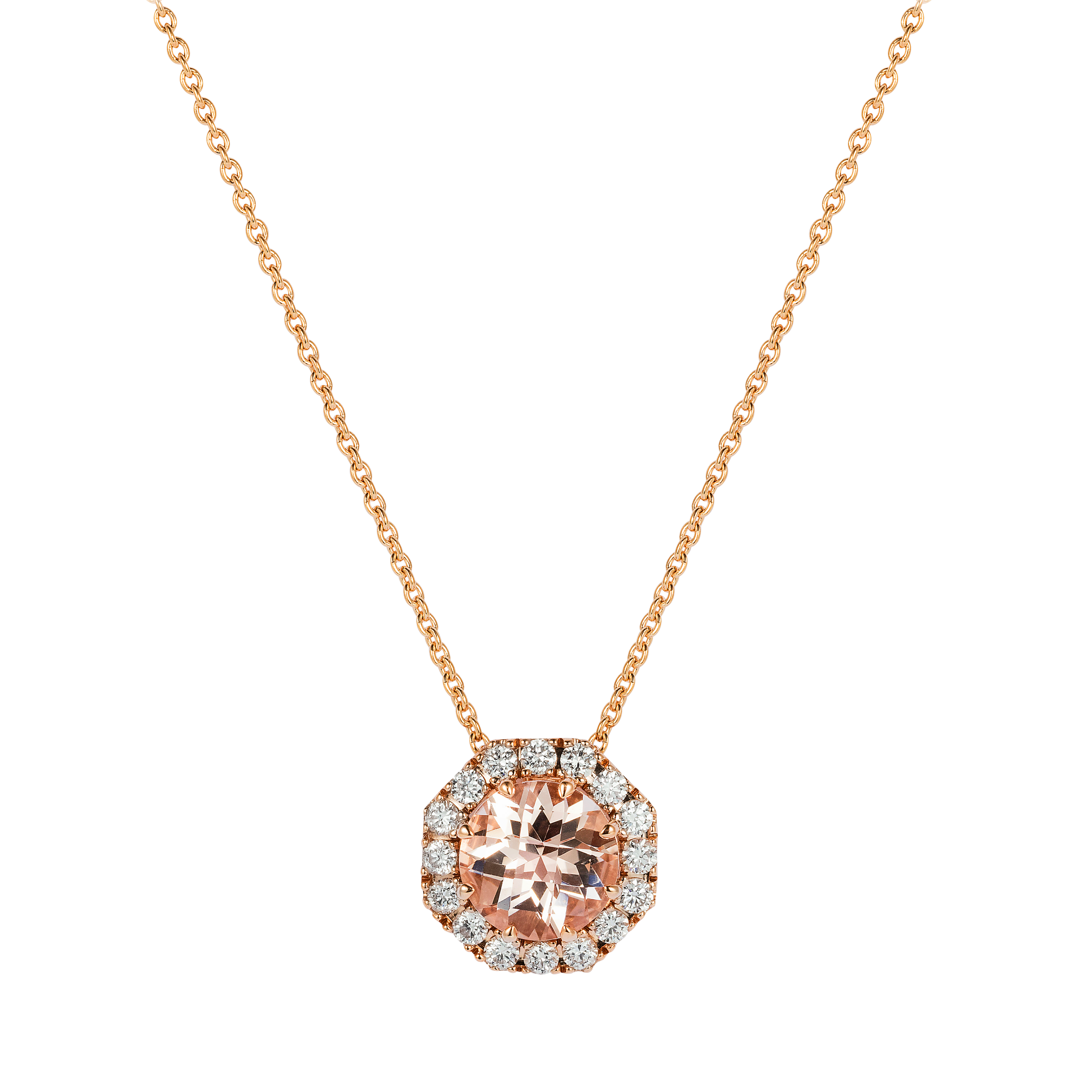halo drop gold jewelry free shipping miadora overstock pendant rose watches oval topaz diamond today morganite cut product and accent white necklace