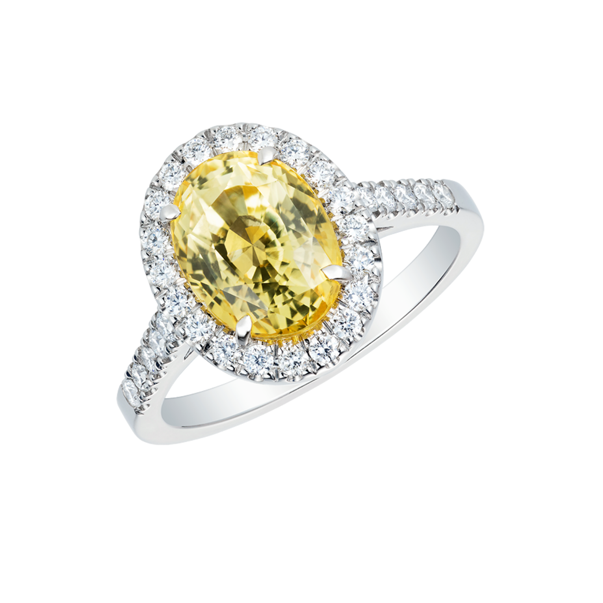 Yellow Sapphire Regal Ring