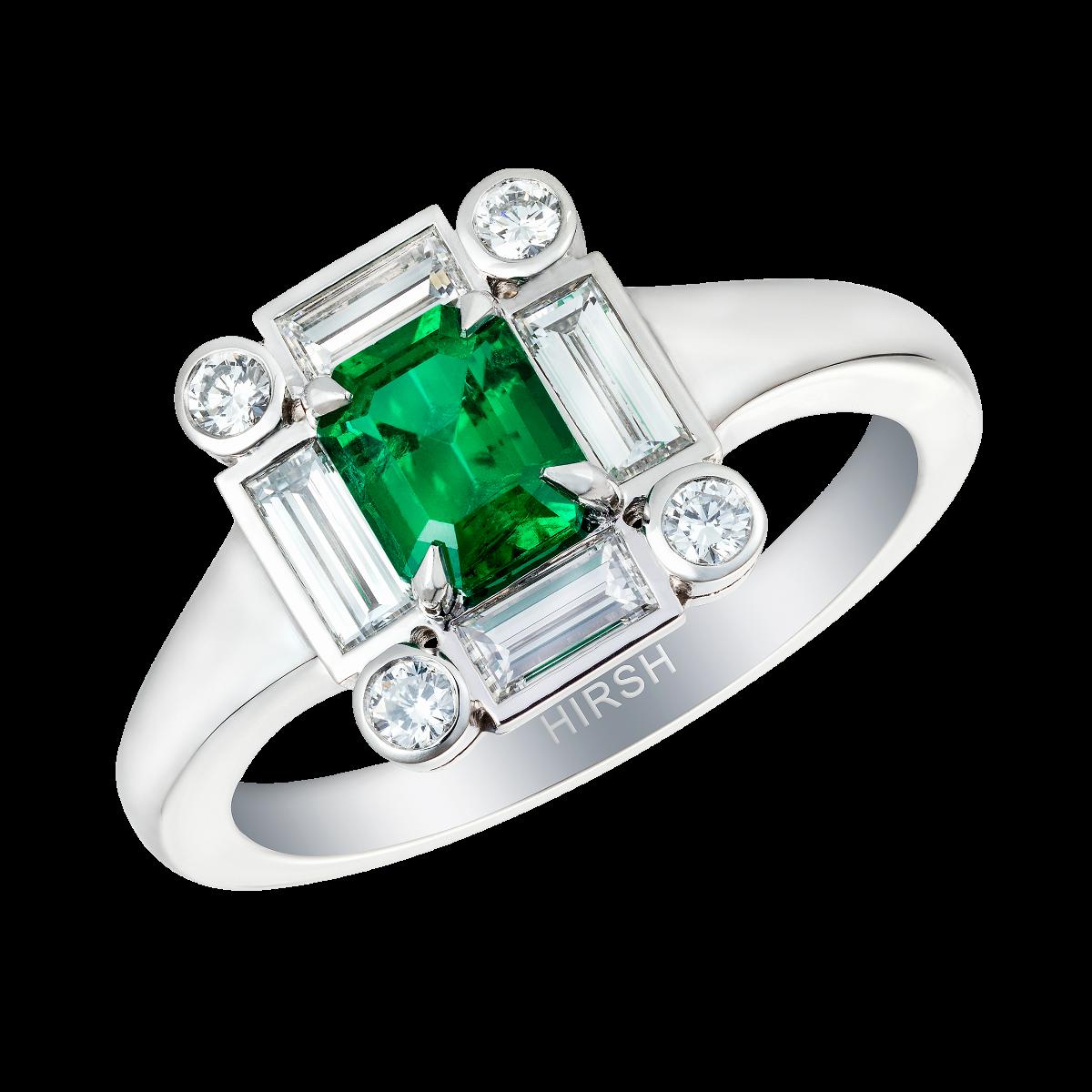 Asscher Cut and Pink Diamond Ring